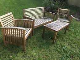 Refinishing Patio Furniture by Refinishing Teak Outdoor Furniture Thriftyfun