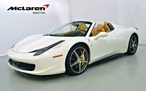 white 458 spider 2014 458 spider for sale in norwell ma 199054 mclaren