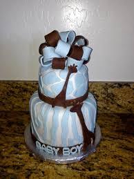 blue safari theme giraffe baby shower cake cakecentral com