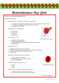 9 free esl remembrance day worksheets