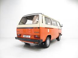 orange volkswagen van historic older and rare devons devon motorhomes owners group