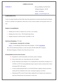 What Are Some Good Career Objectives Veeresha Resume 1