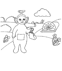 teletubbies cartoon kids coloring