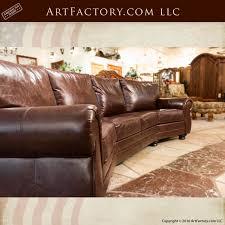 full grain leather sofa furniture custom made scottsdale art