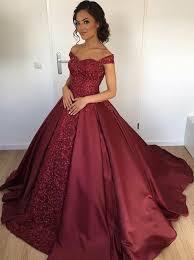 burgundy quince dresses buy gown shoulder burgundy satin beaded quinceanera dress