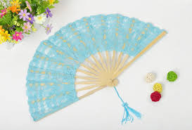 wholesale fans 2018 wholesale handmade cotton lace fans folding fan for