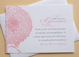 sympathy thank you cards best 25 sympathy thank you notes ideas on sympathy