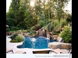 pool garden ideas new zero entry pool design youtube