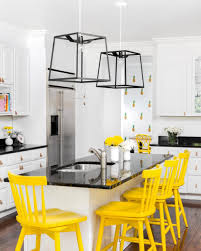 uncategories black white yellow kitchen design black white and