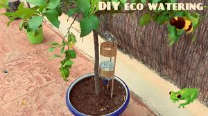 self watering plants how to diy self watering system for plants or trees youtube