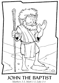 John The Baptist Coloring Page Color Page