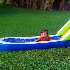 Water Slide Backyard Tropical Splash Inflatable Water Slide By Blast Zone