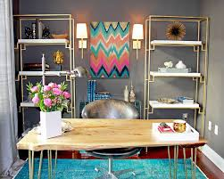 Colorful Interiors 20 Colorful Ways To Enliven Your Gray Home Office