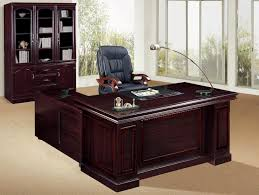 Wood Office Furniture by Paneled Wood Desk Home Office Furniture Set In Medium Walnut