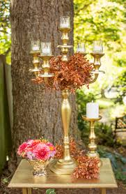 our gold candelabra candle holder is a classic in centerpiece