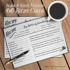 100 recipe card template free cool free christmas recipe card