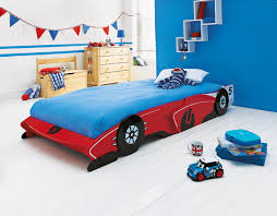 this fun red painted children u0027s racing car bed from argos is