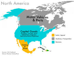 Map North America World Commodities Map North America Visual Ly
