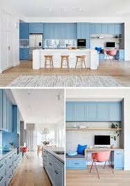 light blue kitchen walls cabinets a wall of light blue kitchen cabinets adds a colorful touch