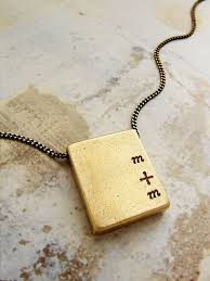 personalized mens necklaces personalized necklace custom sted initials brass