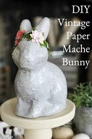 paper mache bunny pretty vintage paper mache bunny