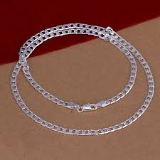cheap silver chain necklace images Hot sale mens silver chain necklace multi size 925 sterling silver jpg