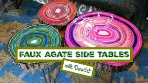 faux agate side table how to faux agate side tables youtube