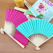 paper fans for weddings solid color paper fans set of 10 palm and bamboo