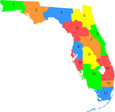 Map Florida Counties by Clubs