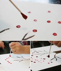 Simple Fall Crafts For Kids - simple craft for kids autumn dot trees jones design company