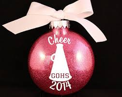 ornament cheer ornament with name and