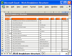 Work Breakdown Structure Excel Template Developing Learning Environments Ii Licensed For Non