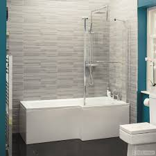 l shape shower bath tub 1700 acrylic white square fixed screen
