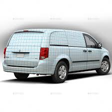 dodge van 2014 dodge caravan wrap mockup by pascau graphicriver