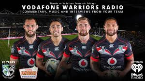 vodafone warriors radio launched warriors