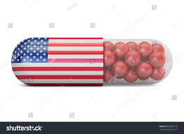 stock united healthcare pill capsule usa flag us health stock illustration 609019118