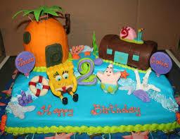spongebob birthday cakes boys birthday cakes spongebob birthday cake for boys by