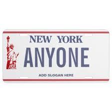 Make Your Own Vanity Plate New York Custom License Plate Zazzle Com
