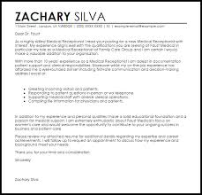 covering letter example for receptionist   Template