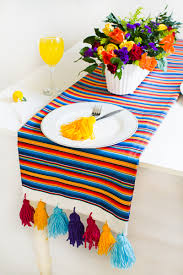 make your own table runner guest post mexican inspired diy table runner zazzle blog