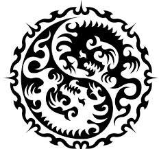 tribal ying yang tribal