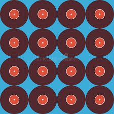 Hintergrundmuster Blau Flache Nahtlose Hintergrund Muster Musik Vinyldiskette 禺ber Blau