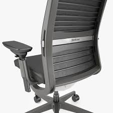 crate and barrel steelcase think ebony chair 3d model max obj