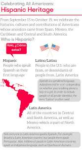 newsela hispanic heritage month aims to embrace many different