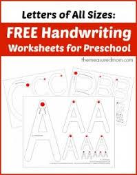 free printable handwriting worksheets for preschool u0026 kindergarten