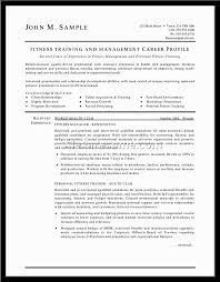 Trainer Resume Example Resume Personal Trainer Resume Sample