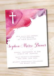 Baptism Invitation Cards Watercolor Baptism Invitation Printable Invitation By