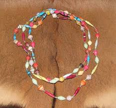 african bead necklace images African paper bead necklace jpg