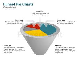 funnel graph and pie chart editable powerpoint template
