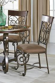 Standard End Table Height by Standard Furniture Bombay Side Chair With Scoll Metal Detailing